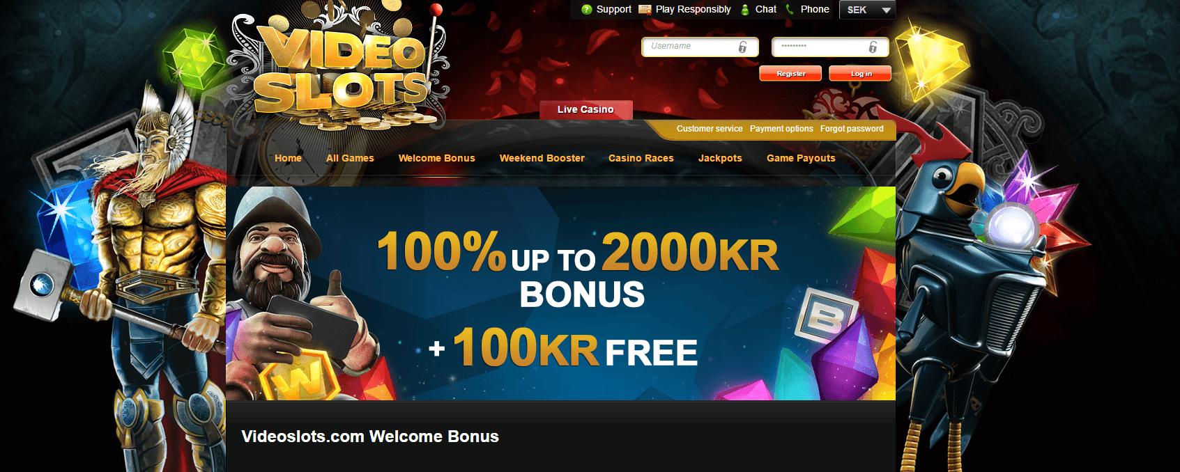 VideoSlots bonuserbjudande