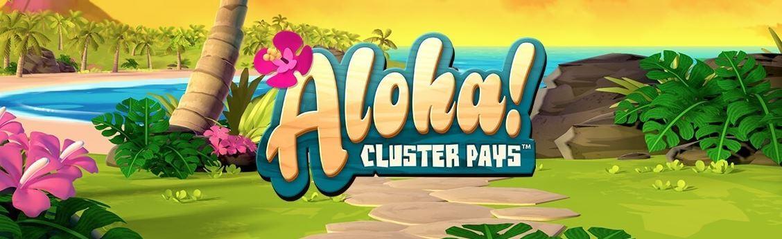 Aloha Cluster Pays - spelautomat Hawaitema - banner