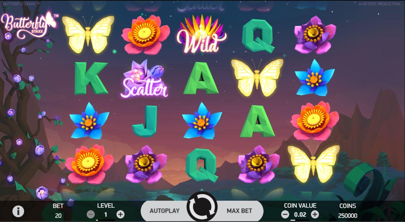 Butterfly staxx spelautomat