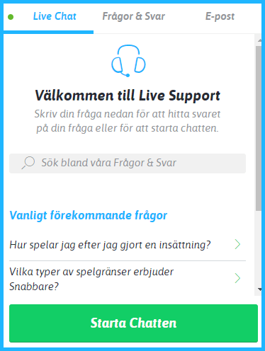 snabbare support
