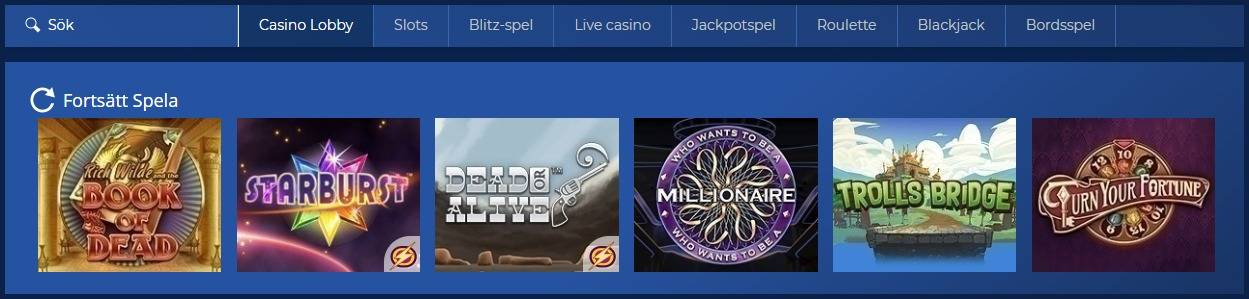 casino heroes spelutbud
