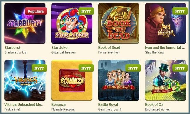 casinostugan spelutbud