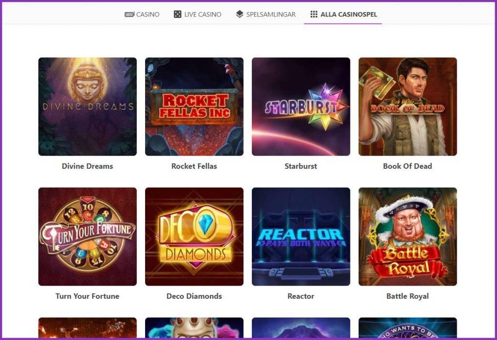 dreamz casino spelutbud