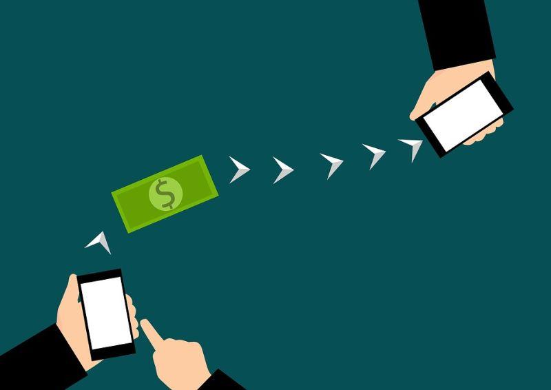 Skicka pengar mellan mobiler